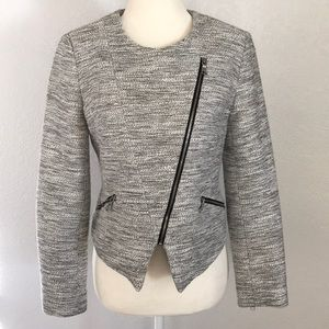Banana Republic Asymmetrical Zip Tuxedo Jacket